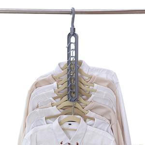 متعدد الميناء دعم دائرة شماعات الملابس الملابس الرف تجفيف البلاستيك متعدد وشاح المعلقون المعلقون رفوف تخزين