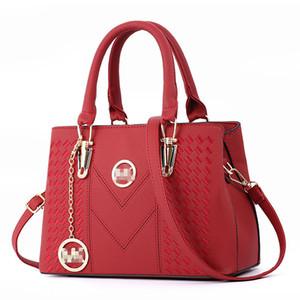 Мода новый стиль женские сумки 2019, искусственная кожа сумка, дамы случайные одно плечо диагональная вышивка Сумка мешок основной Y190620