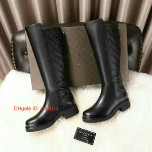 genou chaud filles bottes en cuir bottes femmes femmes bottes casual dames scène chaussures femme hiver filles livraison gratuite chaussures talon plat JP1117