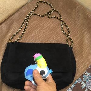 Avec la mode chaîne de maquillage en or sac logo classique sac de fête de luxe sac à bandoulière en flanelle de bonne qualité sac à main en velours