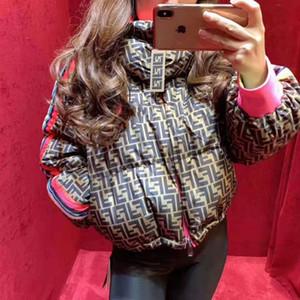 cappotti di cotone giacca con cappuccio moda FF stampa donne mens giacca invernale di design piumini giacche di cotone giacca donne imbottito pelo corto