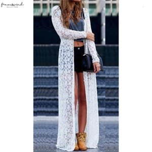 Women Pretty Lace Dress Cover Up Summer Cardigan Beach White Dress Lady 2020 Sexy New Hot Summer Robe Femme Mujer Elegant