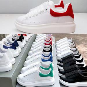 Tasarımcı ayakkabı kadınlar erkekler için moda deri sneakers 3 M yansıtıcı kırmızı siyah kadife Kalın soled Yüksekliği Artan rahat ayakkabı