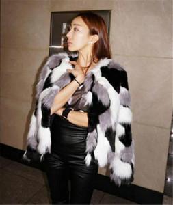Mulit colores con paneles para mujer de piel de imitación de las chaquetas manera más la mujer imitación de piel abierta hembras puntada ropa