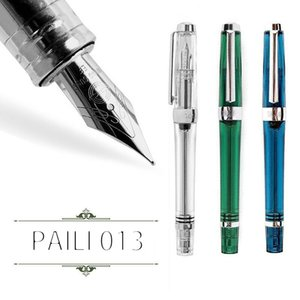 PAILI 013 Vacuum Fountain Pen resina transparente Qualidade EF F Nib Fountain Pen Ink /
