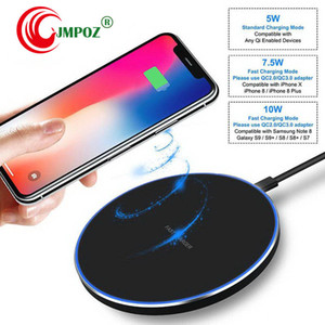 Qi Wireless Charger fast Charger Pad For iPhone XS max xr QC3. 0 10W Fast Wireless Charging for Samsung S9 S8 S8+ S7 Edge Note9