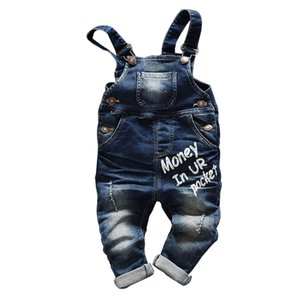 الطفل الرضيع Jean Letter Overalls Bib Child Denim Pants Infant Jump Suit Children's Clothing Romper Kids Jeans Spring Autumn