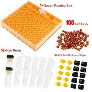 Apicultura reina industria de la cría de plástico caja de panal de abeja reina colmena cría equipos de aislamiento de la apicultura