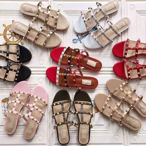 Véritable bascule en cuir Chaussons Rivet femmes fille Lady LOVER Scuffs Mocassins Blanc Noir Rouge Luxe Mode Pu Knite Chaussures