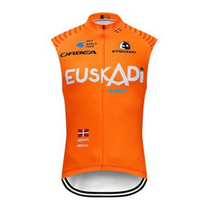 Venta caliente del equipo Euskadi / EUROPCRA para hombre jersey de ciclismo Verano chaleco sin mangas de carreras ropa de bicicleta Camisa de bicicleta de carretera de secado rápido Y032808