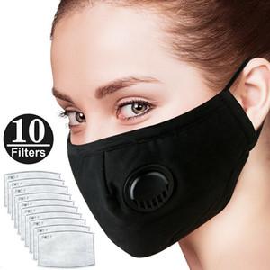 La abundancia Stock DHL libre anti-polvo de grado de protección máscara y el humo Alergias ajustables máscara máscaras reutilizables con 10 filtros para la Mujer Hombre PM2.5