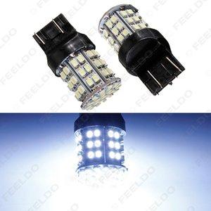 2pcs White 12V T20 7443 64SMD 1206LED Car Auto Turn / Brake Signal Led Light # 1590