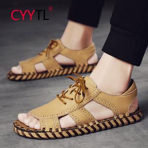 CYYTL новые модные мужские сандалии открытый пляжная обувь летние нескользящие пляжные тапочки с открытым носком повседневные босоножки Sandalias Hombre