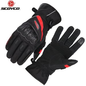 SCOYCO Motorcycle Gloves Waterproof Warm Knuckle Breathable Designed glove Adjustable Cycling Riding MBX Scooter Guante MC83