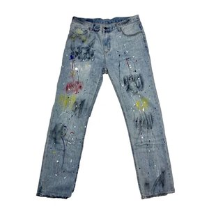 Мужские дизайнерские джинсы Number (N) ine Splash Ink Washed Retro Destroyed Jeans Sicko Jeans High Street Fashion джинсовые брюки