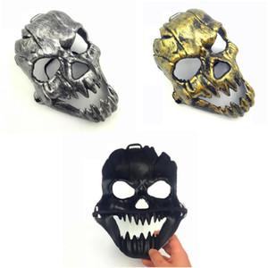 Skeleton Horror-Masken-Halloween-Schädel-Schrei-Maskerade-Masken Erwachsener Vollgesichts Retro Canine Schädel-Maske Maske
