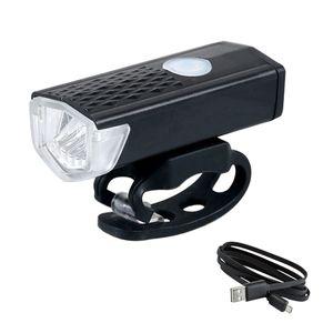 bicicleta USB 루즈 300LM 충전식 USB LED 자전거 자전거 손전등 램프 전면 자전거 자전거 라이트 헤드 라이트