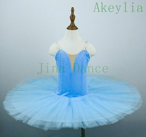 Sky Blue Bird Ballet classique Tutu bleu royal Enfants professionnel Pancake Platter Tutu scène robe de ballet rouge violet noir blanc