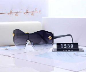 Top Medusa Sunglasses For Womens Driving Ladies Rimless Sunglass Eyewear Women Avant-garde Lentes Windproof Cycling Sun Glasses 1457