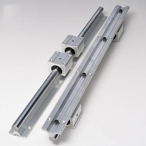 2 jeux SBR16 16mm soutenir pleinement la tige de l'arbre de rail linéaire + 4pcs SBR16UU linéaires portant des guides linéaires cylindriques Rails de menuiserie curseurs