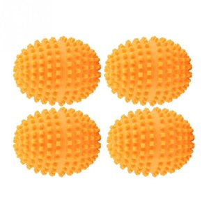 Products Laundry Balls & Discs 4Pcs Set Orange Reusable Dryer Balls Washing Laundry Drying Ball home washing machine starfish solid c...