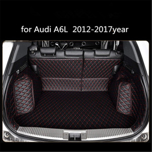 Audi A6L 2012-2017year pelle auto Piano baule pieno Surround Mat Pallet Carpet
