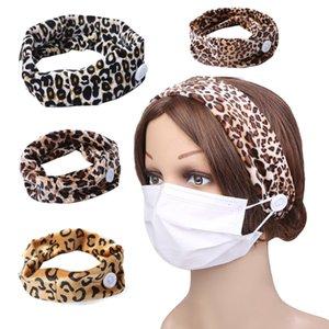 Leopard capelli velet donne della fascia maschera pulsante capelli fascia della fascia elastica testa ornamenti fascia del partito favore 120pcs T1I1993