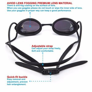 Waterproof anti-fog swim goggles Men Women Outdoor Water Sports colorful plating Swimming Glasses with nose bridge replacement