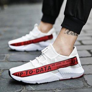 Sapatilhas Casual selvagem moda Sneakers malha respirável Movimento MUQGEW cores misturadas carta de sapatos masculinos tênis planas