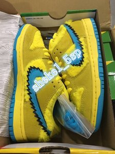 SB Three Bear Pack Grateful Dead x SB Dunk Low Yellow Bear Designer Shoes Blue Fury Deep Royal Skateboarding basketball Sneakers CJ5378-700