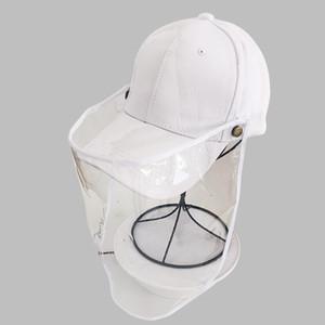 Outdoor Difesa Droplet Cappello da baseball prevenzione epidemica Mask Sicurezza Isolamento Cappelli Donna protezione solare regolabile Baseball Cap
