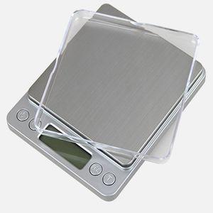 500g * 0.01g bilancia di precisione della tasca dei monili Bilancia da cucina Bilancia digitale Tea calibrazione portatile Medical Lab peso della macchina
