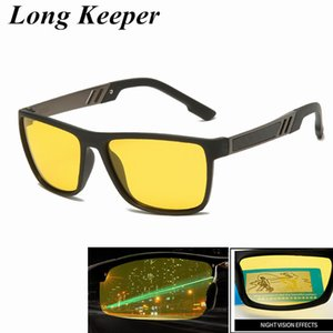 Night Vision TR90 Sunglasses for Men UV400 Protection Night Driving Glasses Male Polarized Yellow Lens Sun Glasses