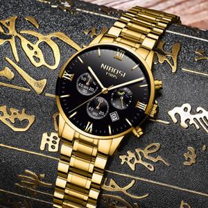 NIBOSI Uhr-Mann-Mode-Quarz-Taktgeber Herrenuhren Luxus Famous Top-Marke Steel Business-wasserdichte Uhr Relogio Masculino