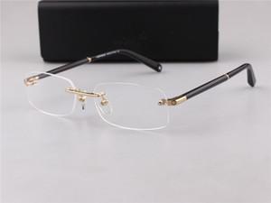Lüks-MB Marka Yeni Göz 150 Erkekler çerçevesiz Gözlük Çerçeve Altın Gümüş TR90 Optik Cam Reçete Gözlük Tam Çerçeve
