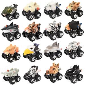 동물 머리 모양의 자동차 모델 미니 풀로 돌아 가기 만화 자동차 장난감 동물은 차량 플라스틱 바람 UP 자동차 장난감 모양의