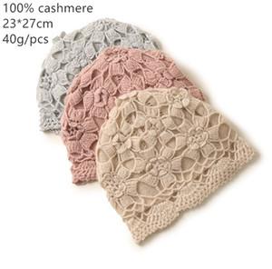 Naizaiga 100% Cashmere Hollow Out Winter Casera de cálido rosa Sombrero caliente, SN316