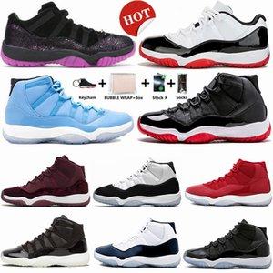11s Low Weiß Bred 16 Binary Blau Pantone 11 Basketball-Schuhe Concord 45 Citrus Space Jam Heiress Trainer Männer Frauen-Sport-Turnschuh-Denken