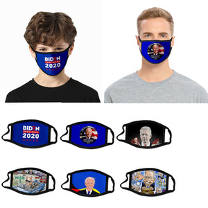 designer face mask cartoon cross-border Biden mask dust-proof fashion 3D printed ice silk fabric can be washed to support custom patterns
