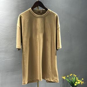 T-shirt 100% coton de coton surdimensionné Casual Street Mode Lâche T-shirt mâle de haute qualité Sport Tshirt coton à manches courtes