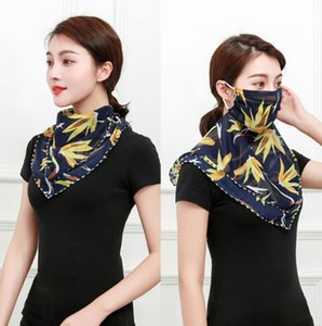 Top designer scarf Summer sunshade mask silk chiffon scarves Women veil dustproof Outdoor cycling scarf bandana magic scarves sunscreen