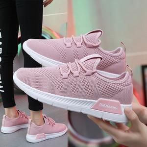 scarpe da corsa transfrontaliera grandi le scarpe da tennis delle donne volare tessitura delle piccole donne versatile fondo piatto scarpe casual Lace Up coreana
