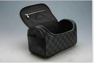 Di alta qualità di nuovo Modo Del Progettista uomini viaggi WC sacchetto delle donne Cosmetic organizer make up bag famoso classico di marca borsa da toilette