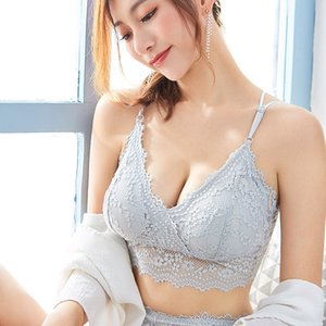 2020 new eyelash lace wrap chest strap tube top knit sexy wild underwear ladies vest beautiful back bra