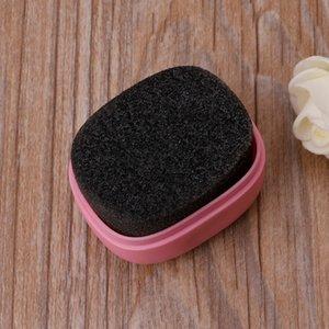 EYKOSI 3 Farbe Tragbare Mini-Schuhe sauberer Bürsten-Schwamm Leder Schnellglanzpolitur Wachs Bag Stiefel Schuhe Pinsel