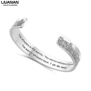 10mm I Am The Storm Engraved Cuff Bracelet Wide Bracelet Family Bangles For Women Men Friend Jewelry Male Quotes