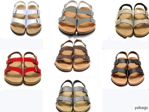 new 808 Mayari Arizona Gizeh street summer Men Women pink flats sandals Cork slippers unisex Sandy beah casual shoes print mixed