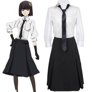 Yüksek-Q Unisex Anime Cosplay Sokak Köpekleri Akiko Yosano günlük üniforma Cosplay kostümleri ceket Mont setleri