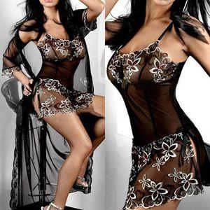 2017 Hot Sexy Lingerie Vestido Roupa de Noite Incrível Mulheres Preto Lady bordados Imprimir Transparente Plus Size L-XXXL