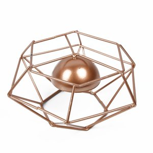 1pcs Copper Wire Tealight Holder Geometric Candle Holders Metal Wedding Decor US